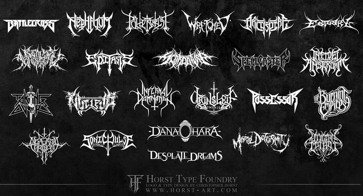 A while back I came across this collage of heavy metal band logos, and I recently found it again. I don't think I've heard of any of these bands before, and in general metal isn't my go-to music ge...