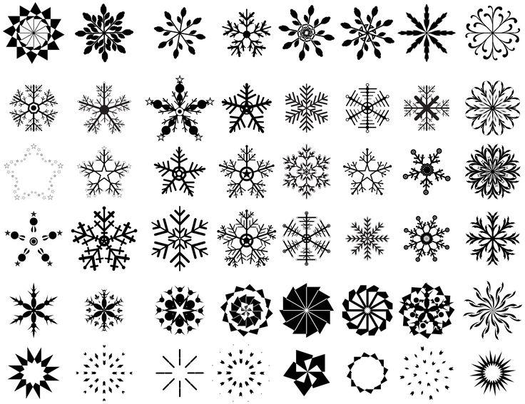 High Res Snowflake Designs