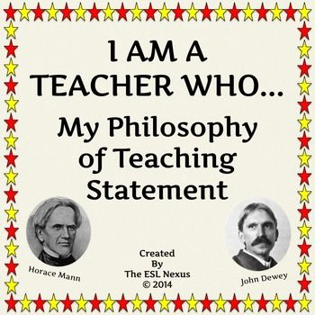 Do you need or want to have a statement of your teaching philosophy? This tool guides you in the creation of a personal statement that explains your beliefs and values about education. Post the finished statement in your classroom or add it to your professional portfolio to show evaluators or potential employers. $