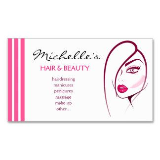 Hair Beauty Salon Business Card Design Places To