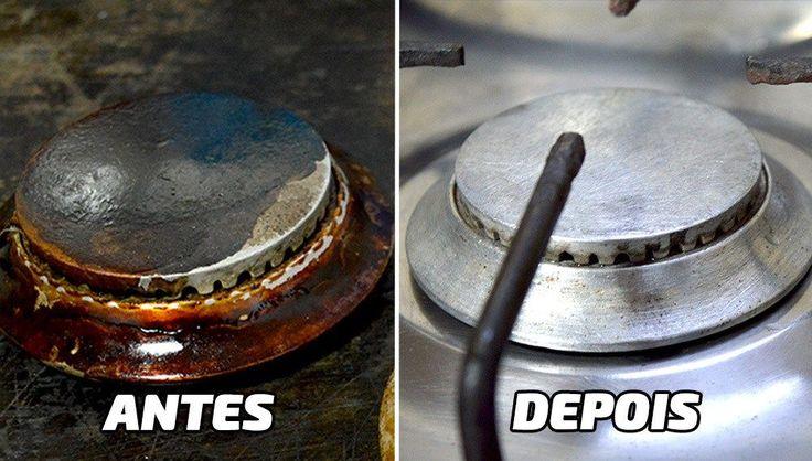 Como limpar todas as Peças do Fogão sem sofrer