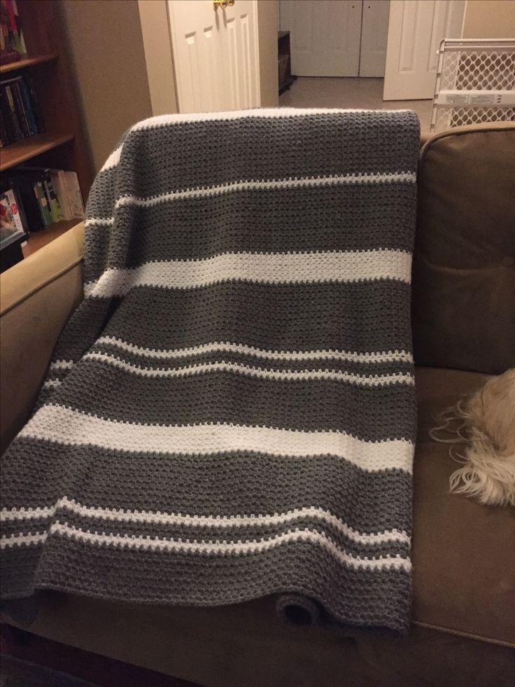 Crochet blanket, single stitch