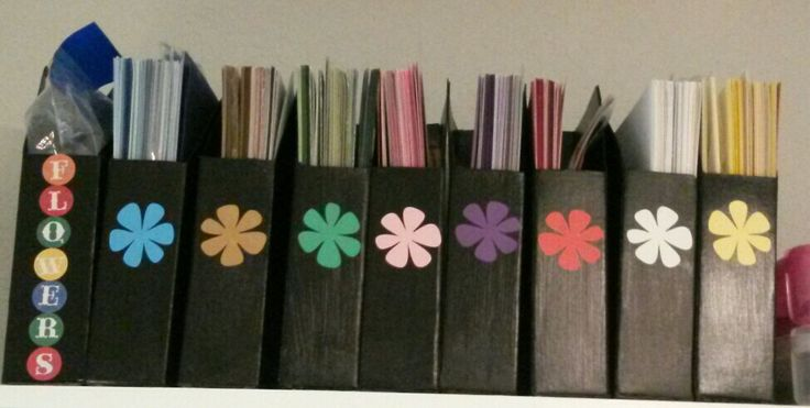 Paper storage boxes. Used usps box #1092 and painted them black.