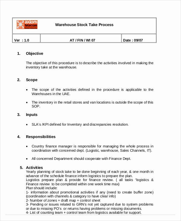 Standard Operating Procedure Sample Pdf Awesome 35 Sop Templates In Pdf Standard Operating Procedure Job Application Sample Document Templates