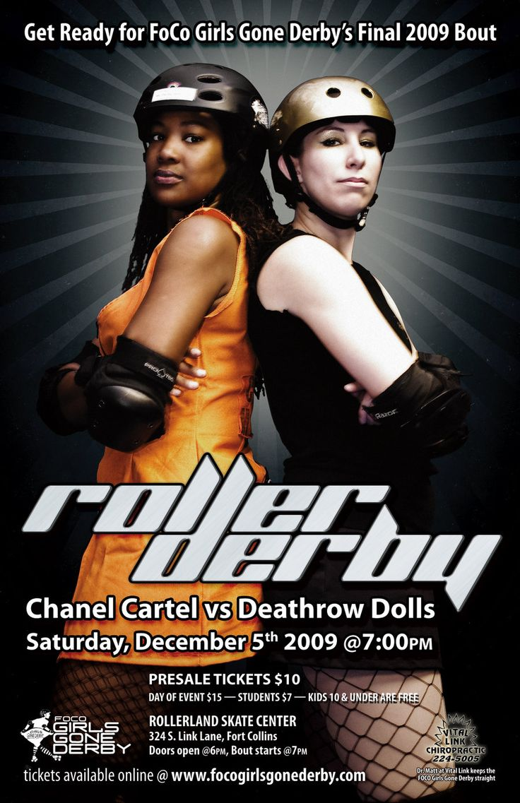 December 2009 Derby Poster by ~schwa242 on deviantARTSchwa242, Rollers Derby, Picture-Black Posters, Posters Design, Art Ideas, Derby Posters, 2009 Derby, December 2009, December Derby