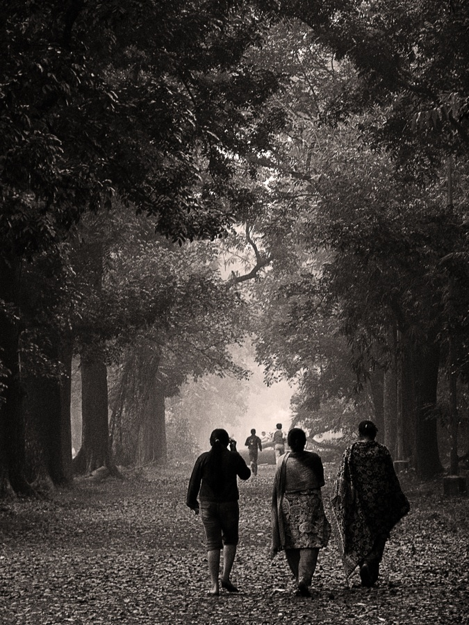 Morning walk in calcutta