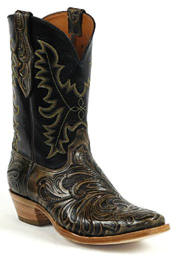 Hand-Tooled Leather Boots Style HTP-214 Custom-Made by Black Jack Boots