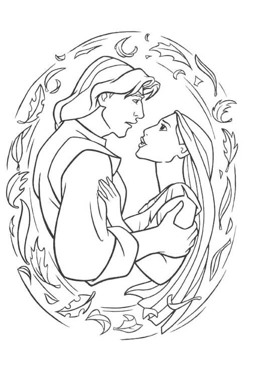 beautiful princess pocahontas coloring pages for kids