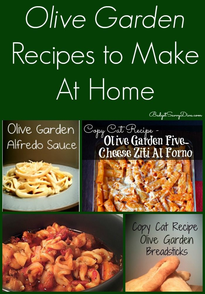 HUGE LIST of Olive Garden Recipes To Make At Home - all of them have been tested and reviewed! #olivegarden #copycatrecipes #recipes #budgetsavvydiva