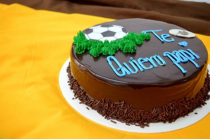 """Pastel de chocolate: """"Te Quiero papi"""""""