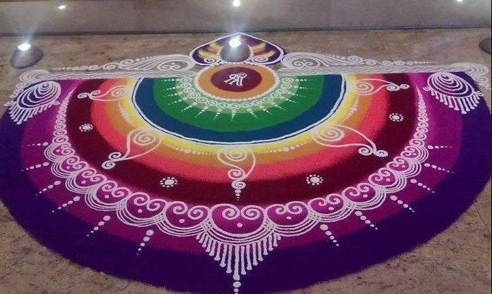Sanskar Bharti Rangoli Designs for Diwali