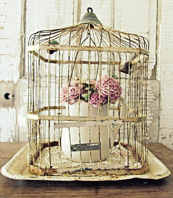 birdcage & flowers Need to find the right size tray for mine...