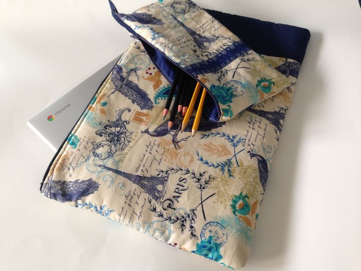 Made for a teen who is in love with Paris. Its custom laptop sleeve to go inside her school bag and a pencil pouch to use at school.