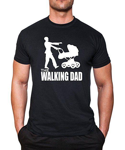 Walking Dad T-Shirt Papa Dad neu Herrentag Vatertag Fun Shirt mycultshirt Baby