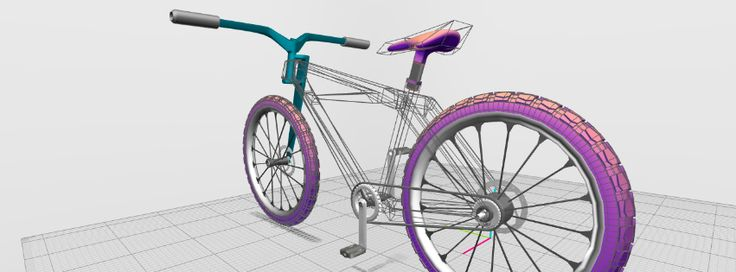 Bike made @VECTARY #madeatvectary #online3Dtool #3Dmodeling #3Dprinting #vectary #vectaryzed