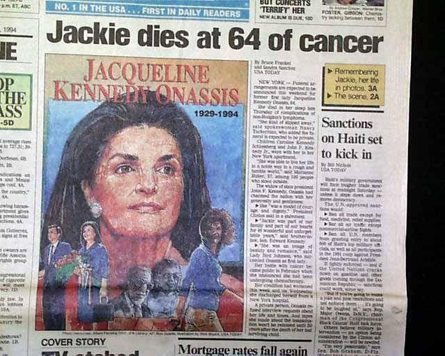 Jackie Kennedy Death | Death of Jacqueline Kennedy Onassis... - RareNewspapers.com