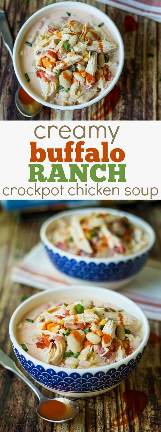 Dinner doesn't get much better than this Creamy Buffalo Ranch Crockpot Chick…