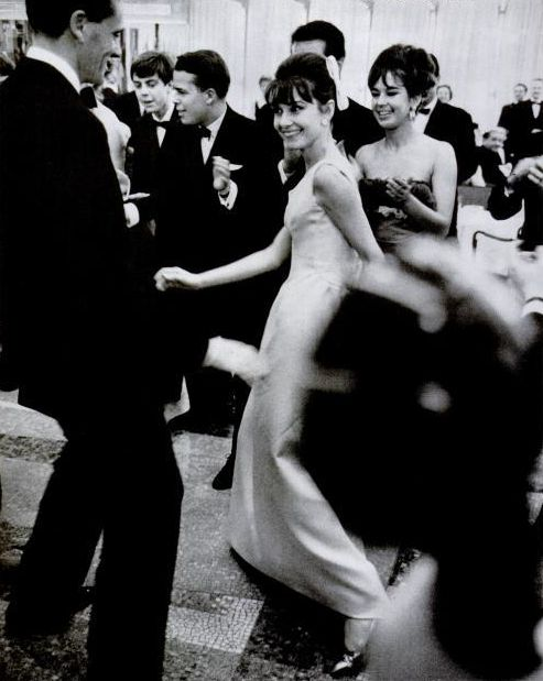 Audrey Hepburn doing the twist. 1962.