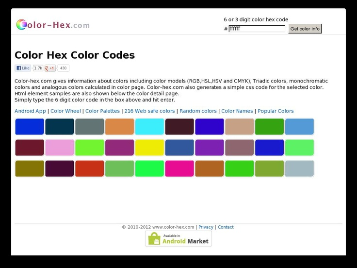 108 best Creative Geek images on Pinterest Career, Charts and - sample html color code chart