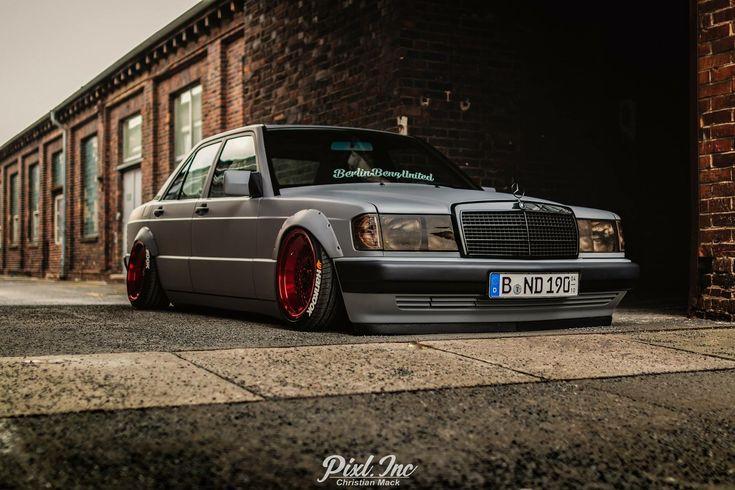 #Mercedes_Benz 190e #W201 #Slammed #Modified #Bagged #Stance