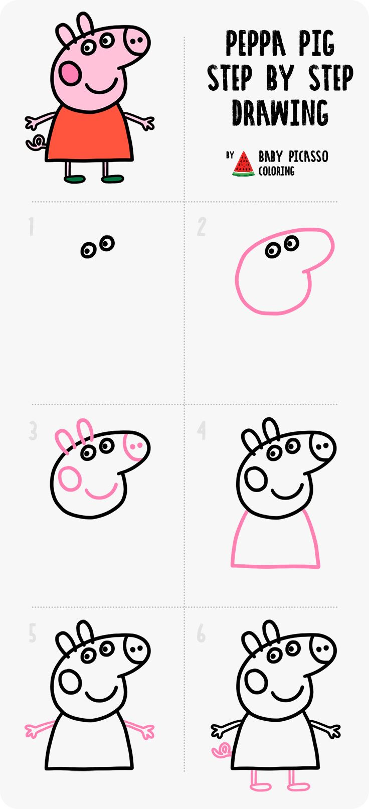 Peppa Pig Family Drawing And Coloring Pages For Kids And Toddlers Youtube Peppa Pig Family Peppa Pig Peppa Pig Drawing