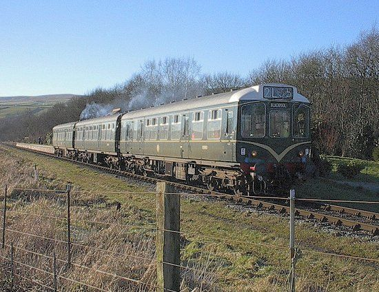 Calder Valley Class 110 DMU (E51813,E51842 and 59701) at Irwell Vale, ELR 14.01.2001