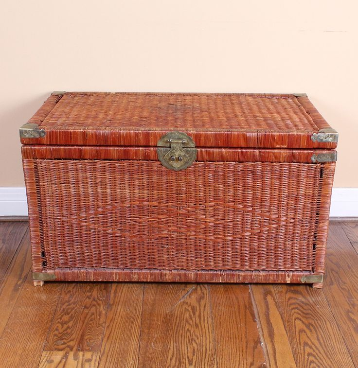 1000 ideas about wicker trunk on pinterest wicker storage trunk wicker coffee table and baskets Coffee table with wicker baskets
