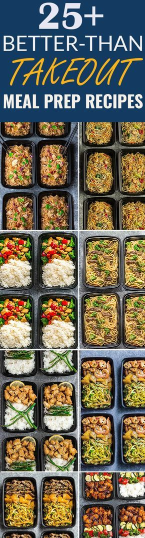 More than 25 of the most popular Asian Takeout favorites made Healthier and into Meal Prep Recipes. Including Chicken Chow Mein, Fried Rice, Chicken and Beef Lo Mein, Cashew Chicken Chicken Pad Thai, Shrimp Teriyaki Zoodles, Beef Teriyaki Zoodles, Honey Lemon Chicken, Kung Pao Chicken, General Tso's Chicken + more. Perfect for Sunday meal prep for school or work lunchboxes or lunch bowls. #takeoutfakeout #betterthantakeout #takeout #mealprep #healthy #lowcarb #recipes #asianfood