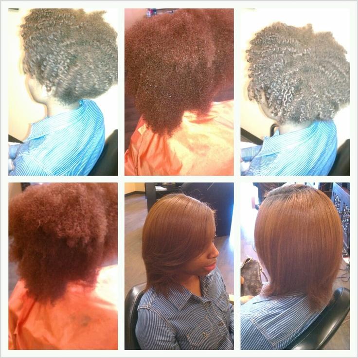 Before Amp After Natural Hair Silk Press Curly Hair Don