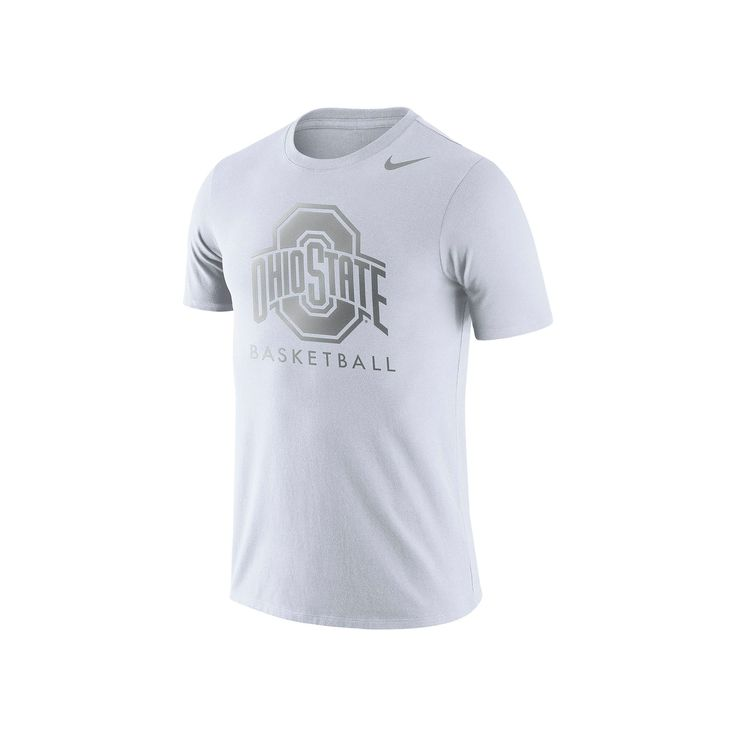 Men's Nike Ohio State Buckeyes Basketball Tee, Size: Medium, White