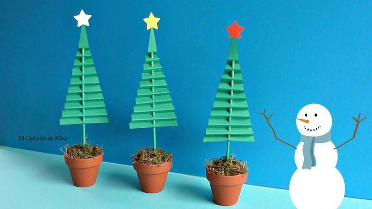 Abetos de papel ecole noel pinterest mesas - Manualidades navidad papel ...