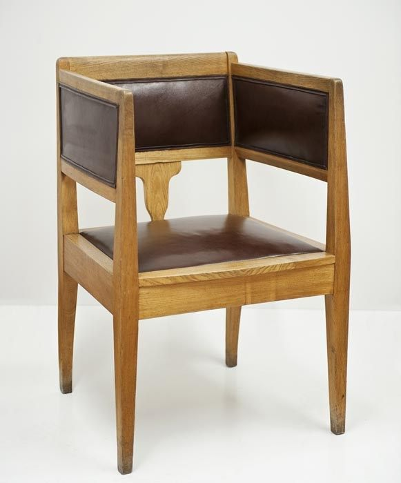 Karol Stryjeński, Armchair from the director's office of the Library of the Technical and Industrial Museum in Krakow, 1913-1914, Collections of…