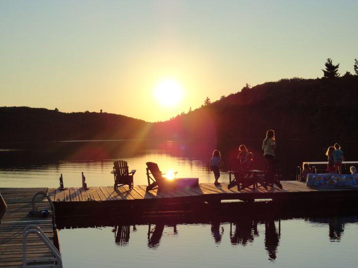 A little evening fishing at Kindercamp at Camp Tanamakoon.