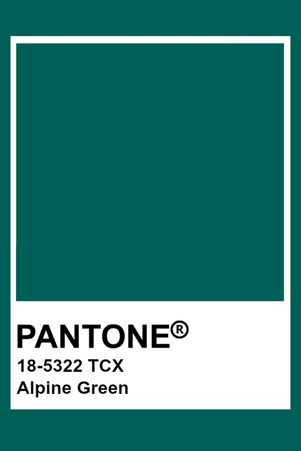 Pantone Alpine Green Teal Color Trends Colorful Fashion