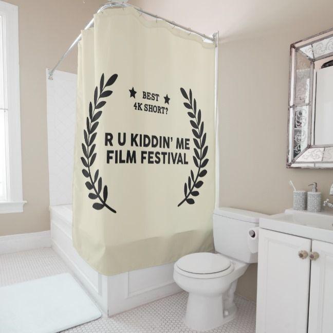 Film Festival Winner Best 4k Short Shower Curtain Zazzle Com