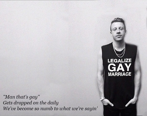 same sex marriage quotes macklemore and ryan in a Hobart