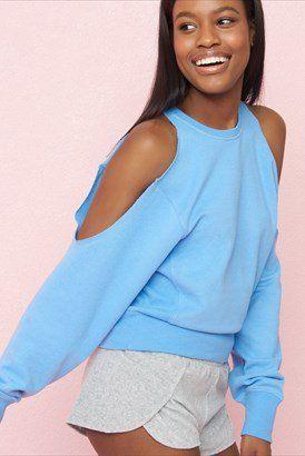 Cold Shoulder '80s Sweatshirt