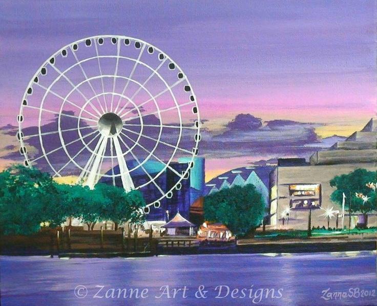 Wheel of Brisbane   Acrylic on Canvas