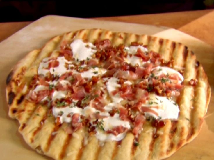 Grilled Pizza -Three Ways recipe from Alton Brown via Food Network