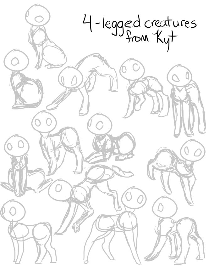 Couple Poses Reference Sheet Cat