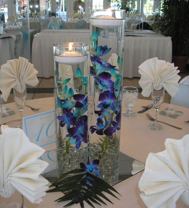 Centerpiece flowers -- the colors are beautiful
