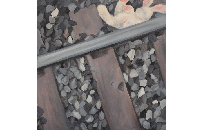 LOT 56  ANELI MUNTEANU Lost [2004] Acrylic on canvas 90 × 90 cm (35.4 × 35.4 inch) Estimate €600 - €800  #lavacow #contemporary #art #anelimunteanu