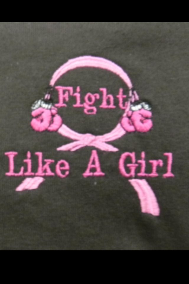 Fight like a girl two chicks