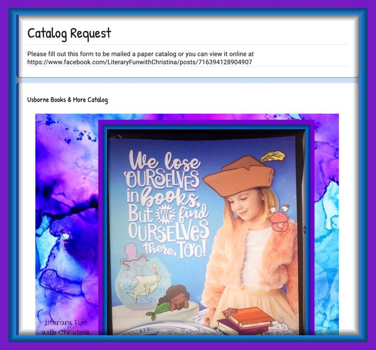 How to request an usborne books and more catalog direct
