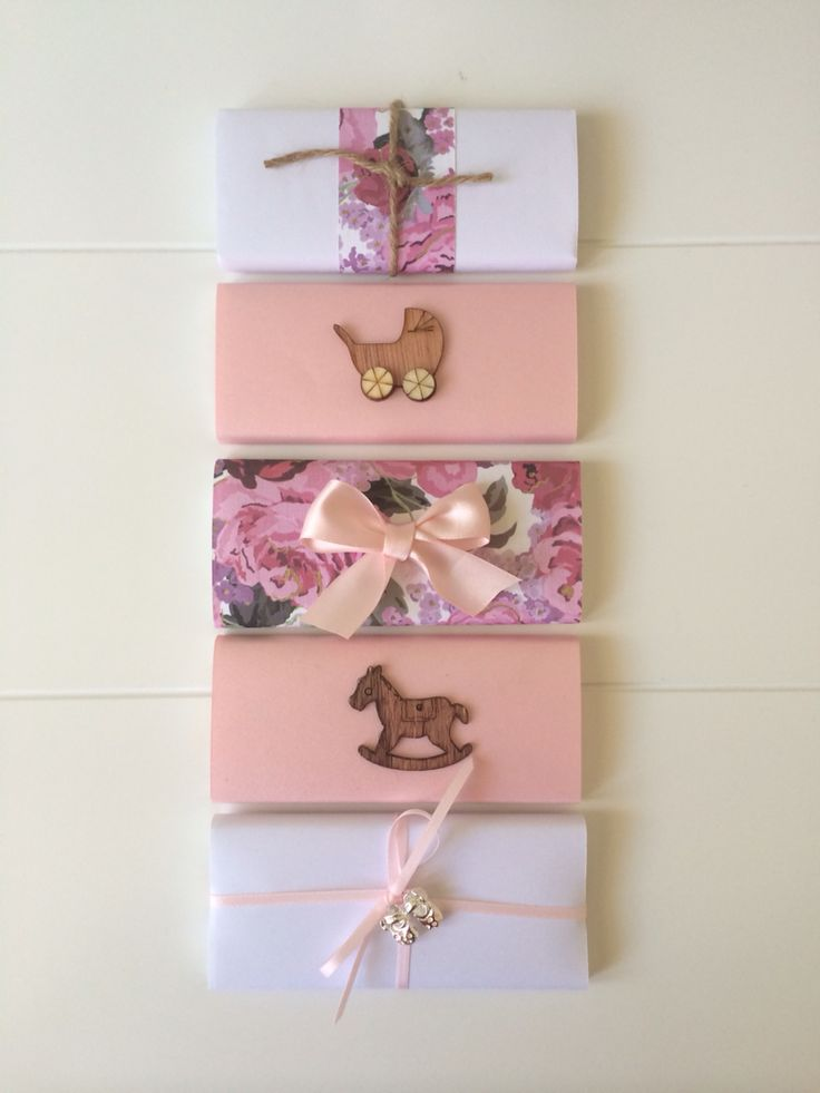Chocolate Bar Favors for a Baby Girl by Sweet Soirees - www.sweet-soirees.com.au