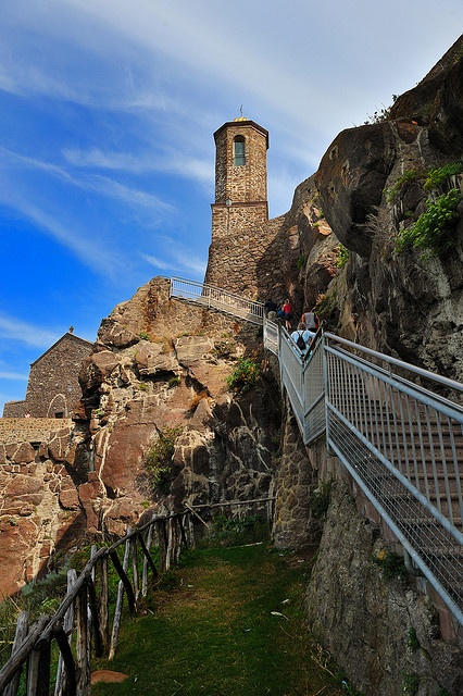 Old bell tower of Castelsardo, Sardinia, Italy,