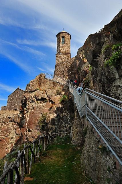Old bell tower of Castelsardo, Sardinia, Italy,province of Sassari