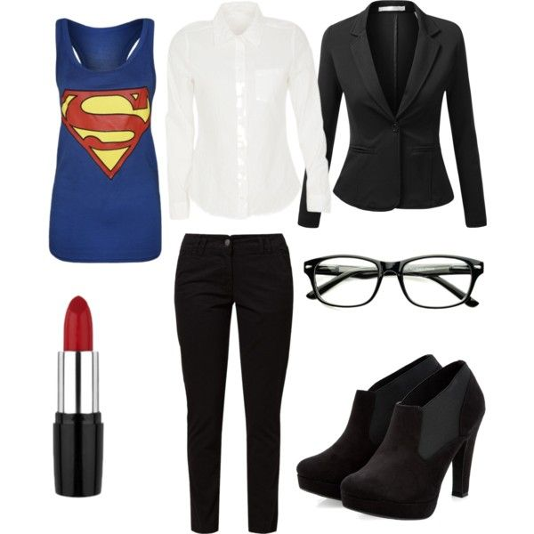 Female Clark Kent by naniana on Polyvore featuring J.TOMSON and TWINTIP