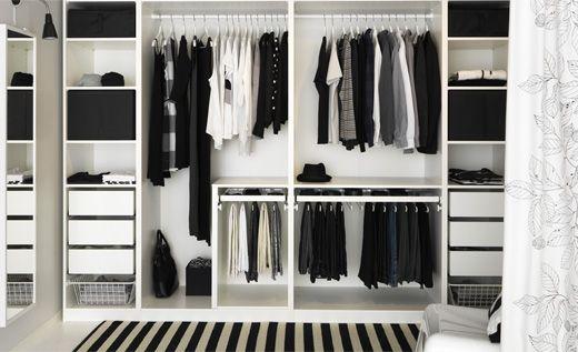 Habitación de almacenaje de ropa
