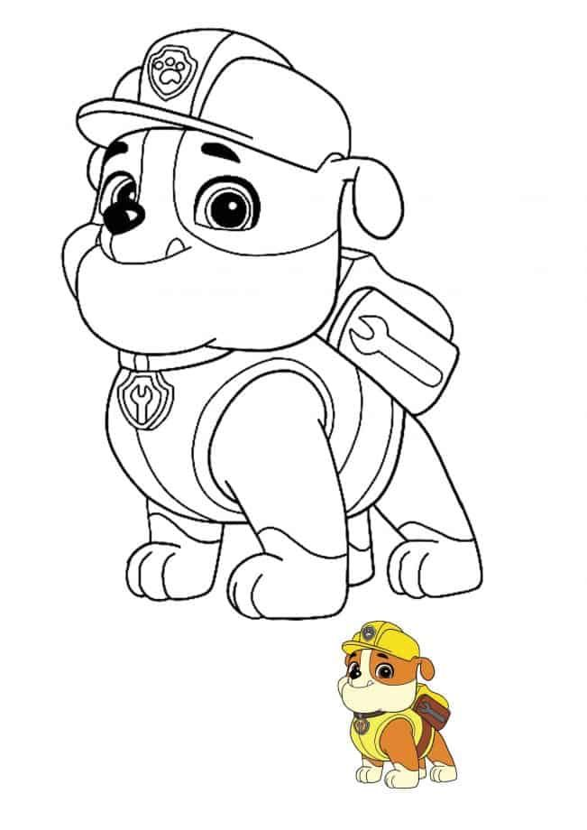 Paw Patrol Rubble In 2021 Paw Patrol Coloring Pages Paw Patrol Coloring Paw Patrol Drawings